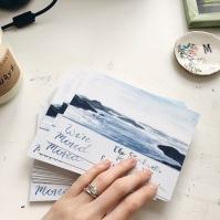 Watercolor Announcement Card