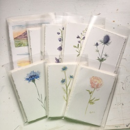 Hand Painted Bridesmaid Cards