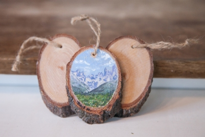 Custom Oval Ornament 1