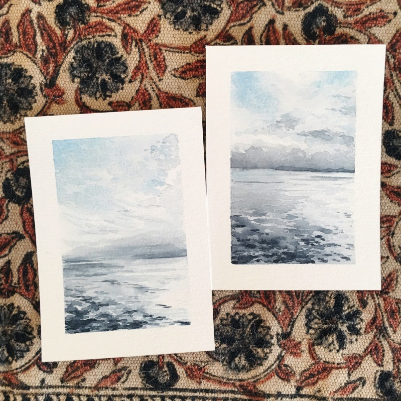 Rosario Strait Watercolor Paintings 5x7 on paper