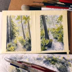 Millersvylania State Park Old Growth Forest Paintings